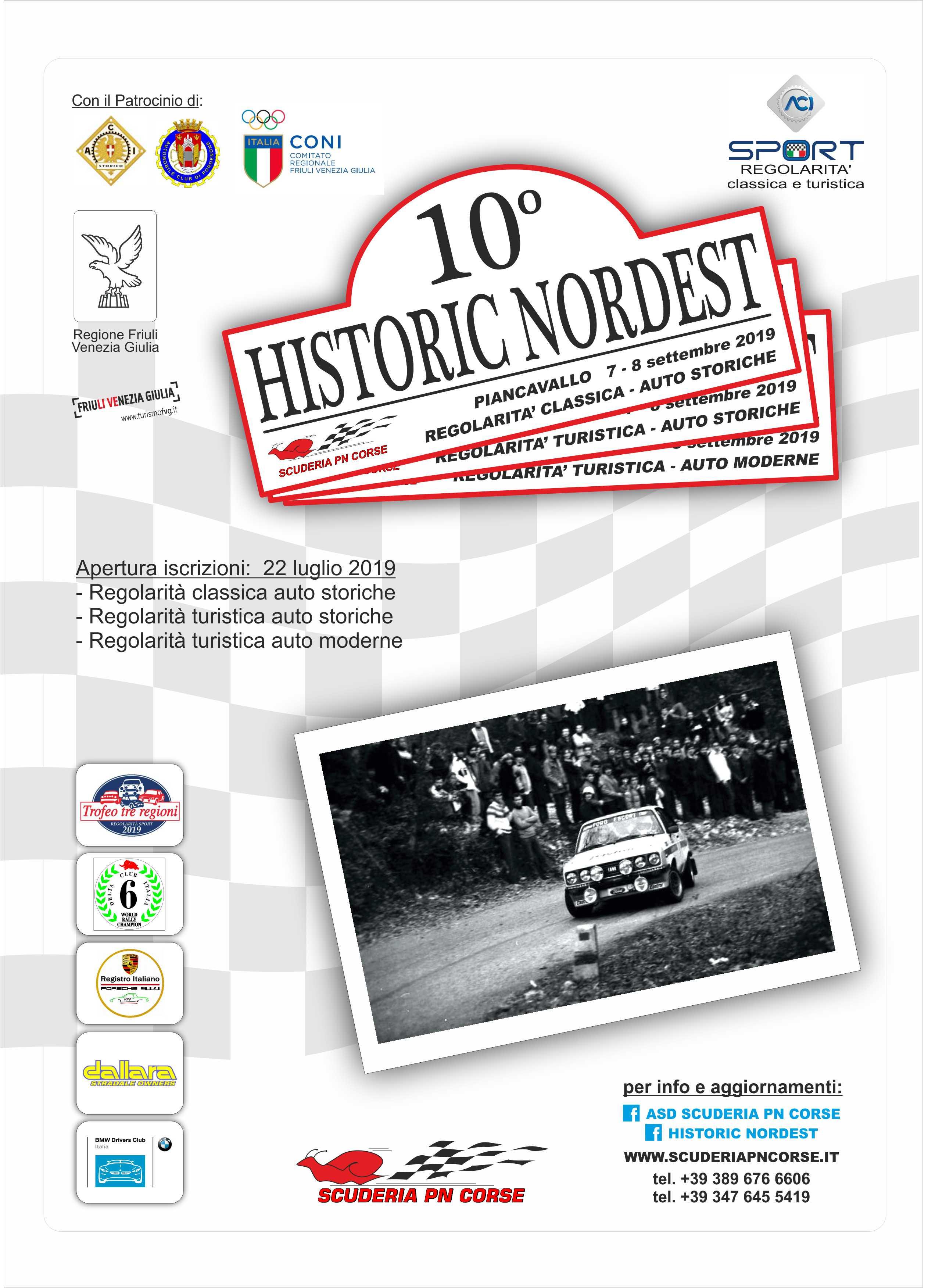 Pagina Di Calendario Luglio 2019.Historic Nordest La Decima Edizione In Calendario Il 7 Ed 8